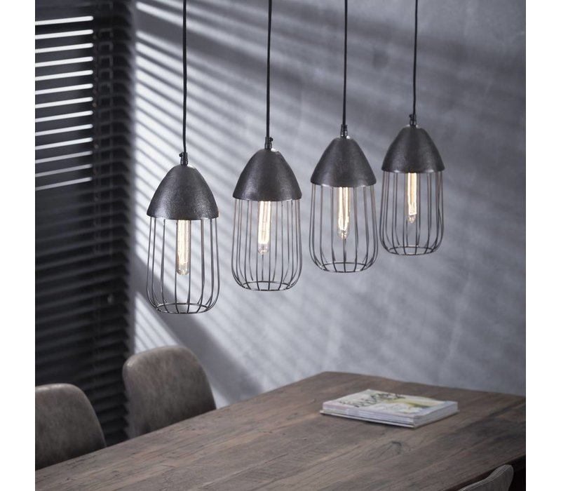 Hanglamp Terni 4x Ø15 draadstaal