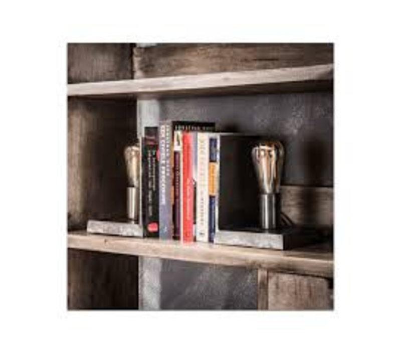 Boekensteun met lamp set