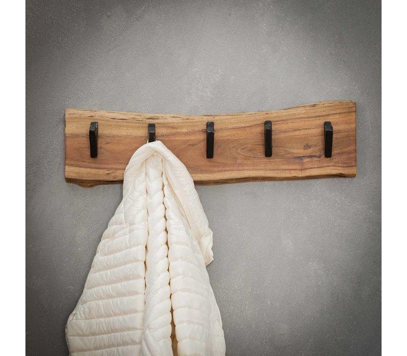 Kapstok massief hout - 5 haken