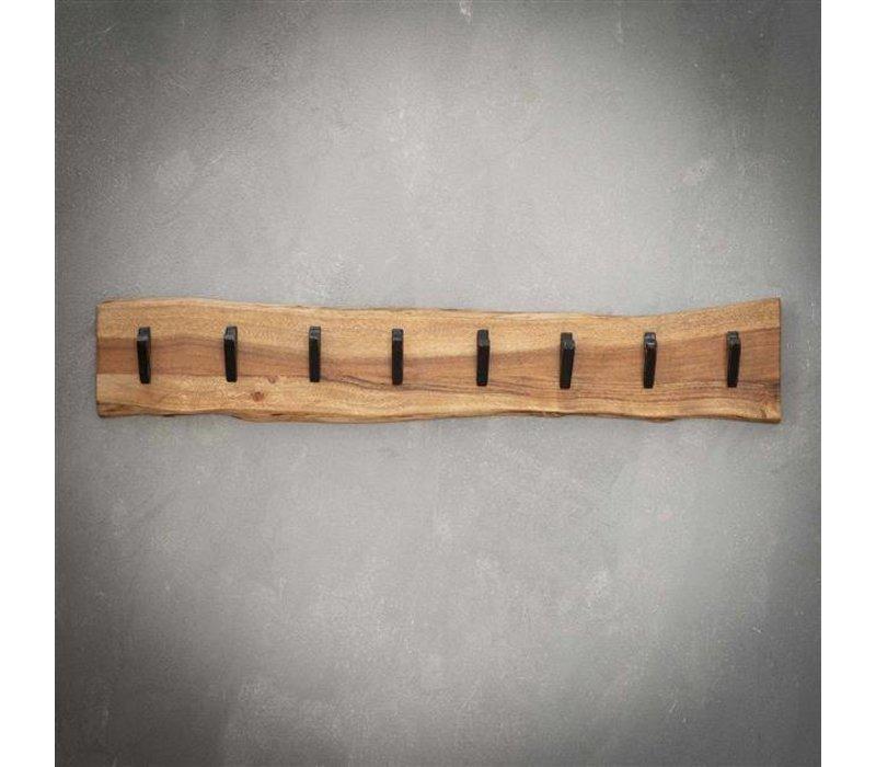 Kapstok massief hout -  8 haken