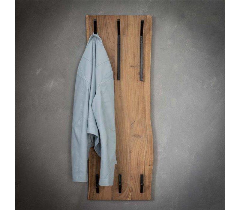 Kapstok massief hout - 6 haken