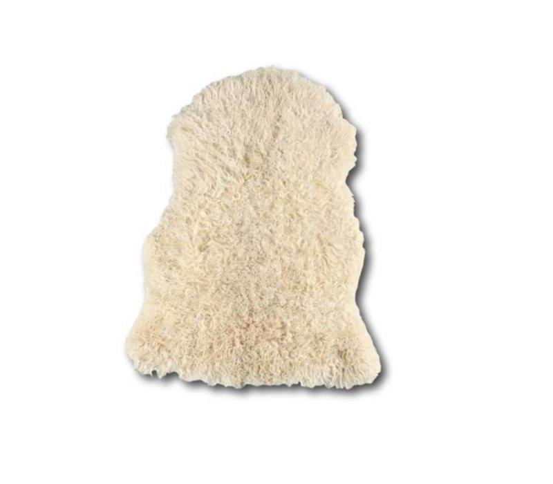 Schapenvacht krullend lang haar wit