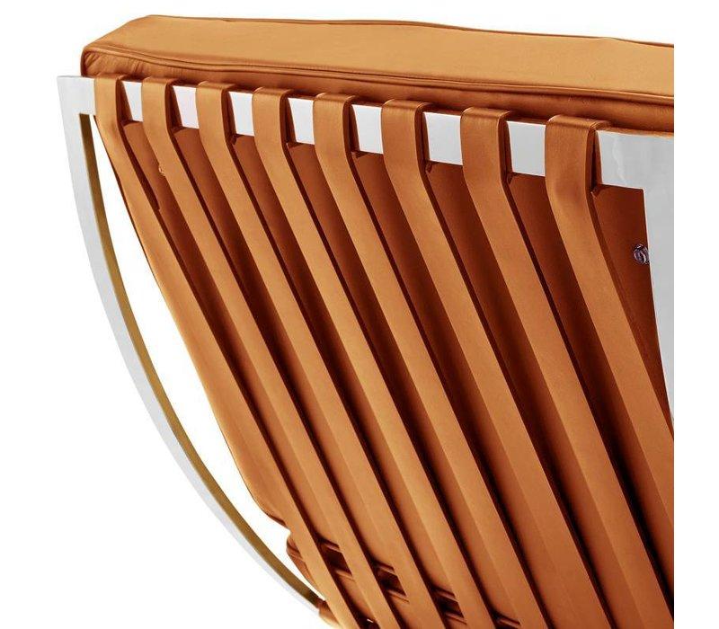 Moderne fauteuil Expo cognac