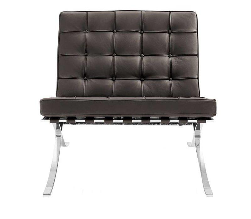 Moderne fauteuil Expo bruin