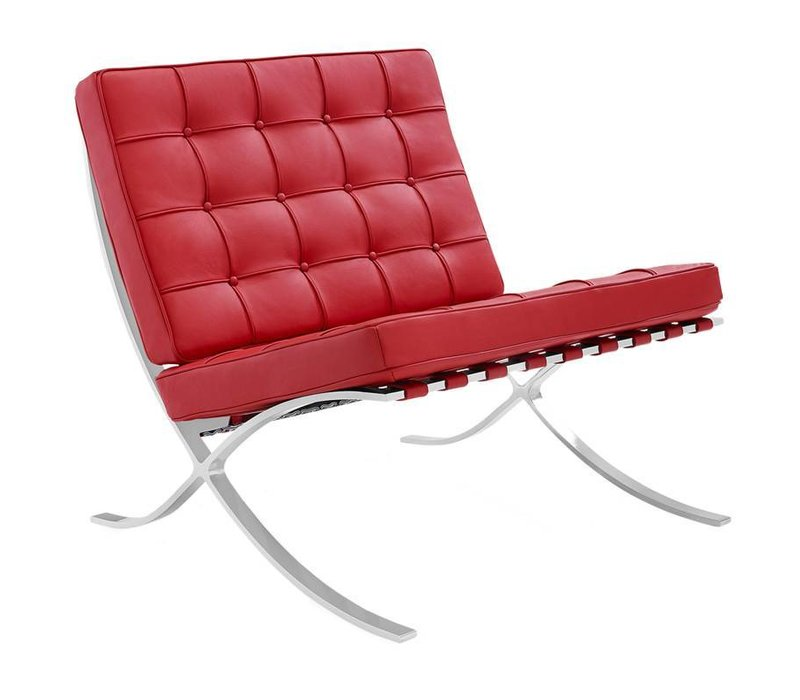 Moderne fauteuil Expo rood