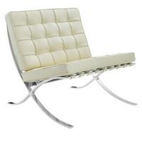 Moderne fauteuil Expo crème
