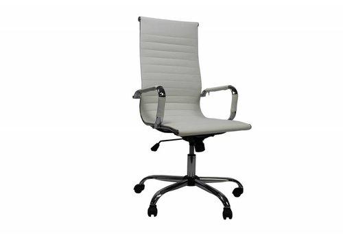 Moderne bureaustoel Mile wit