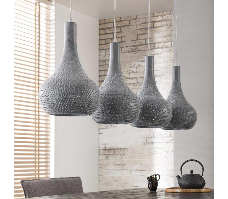 Industriële Hanglamp Drops Zilver