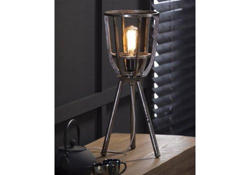 Tafellamp Ø21 draadstaal/driepoot