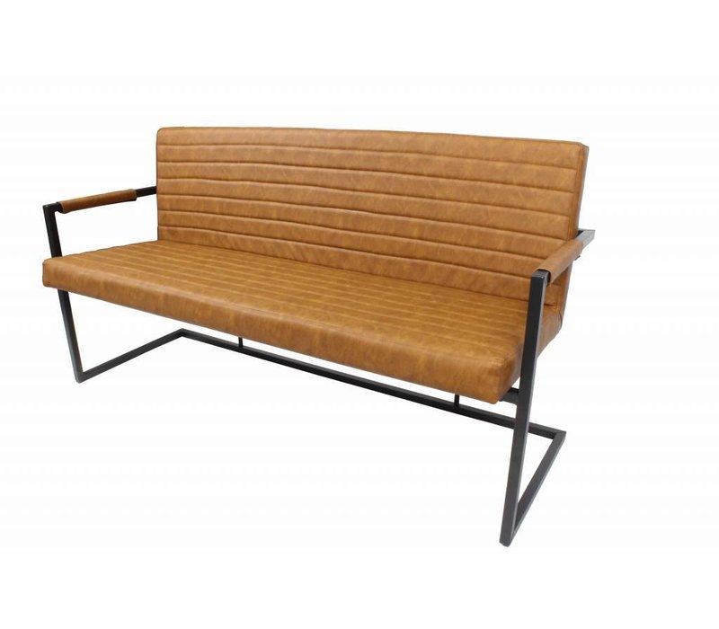 Industriële Eetkamerbank Rodney Cognac - 160 cm
