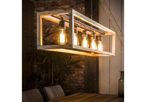 Industriële Hanglamp Harris Wood
