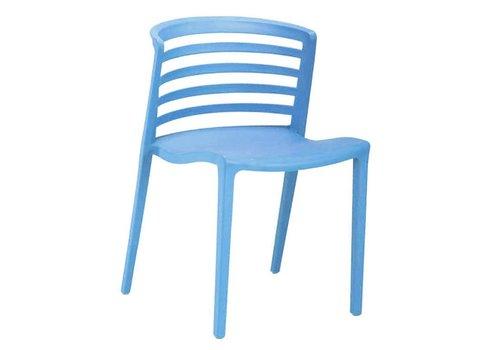 Norrie moderne wachtkamer-/kantinestoel blauw