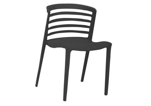 Norrie moderne wachtkamer-/kantinestoel zwart