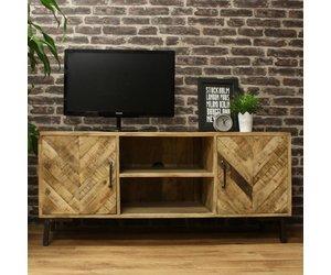 Industriele Tv Meubels : Massief industrieel tv meubel lagos gratis thuisbezorgd