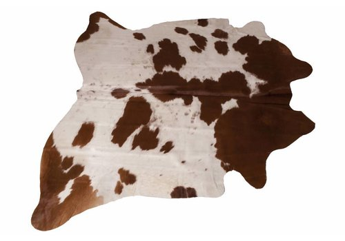 Cow Skin Brown - White