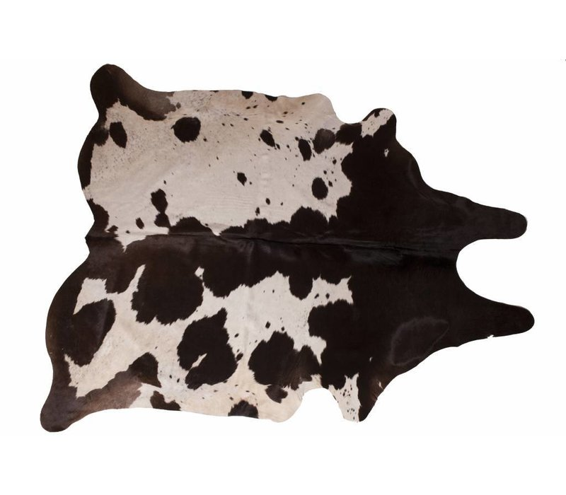 Cow Skin Dark Brown - White