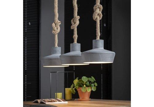 Industriële hanglamp Zara 3-lichts betonlook