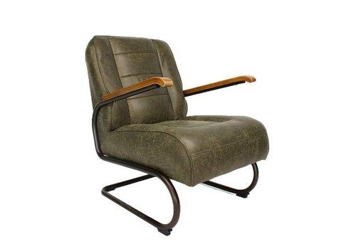 Industriële fauteuil Glenn groen