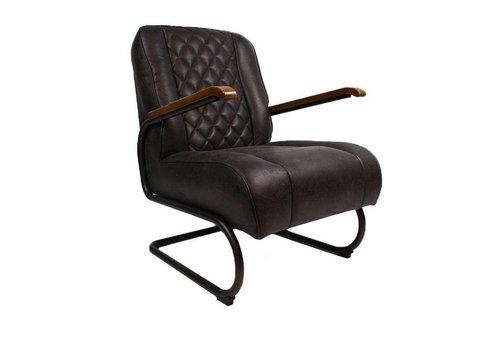 Industriële fauteuil Mex antraciet