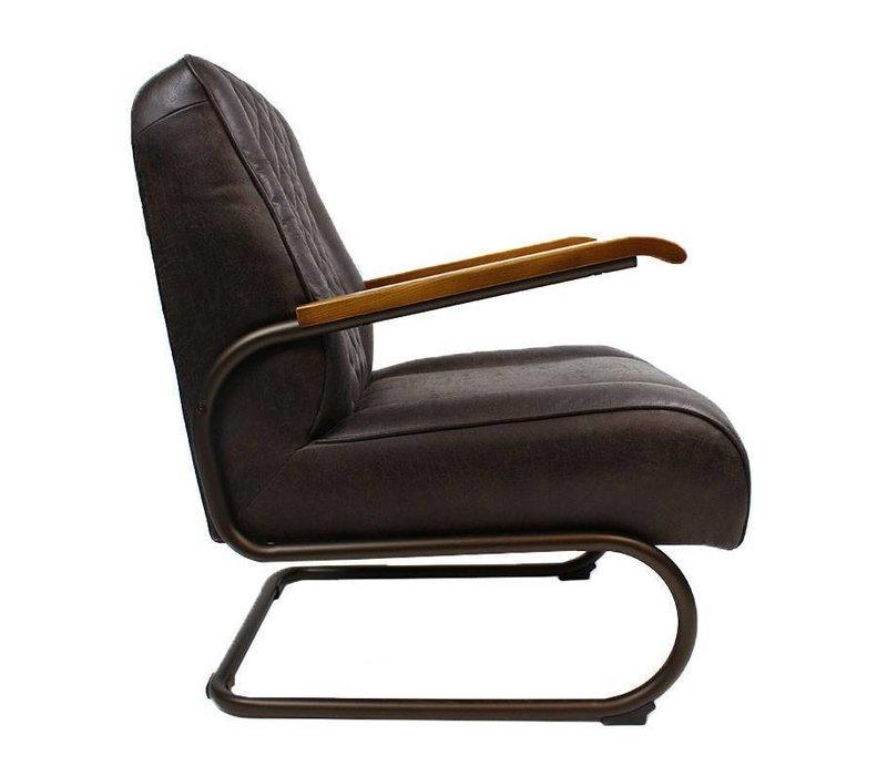 Industriële fauteuil Mex donkerbruin