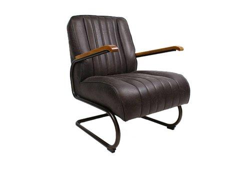 Industriële fauteuil Wald donkerbruin