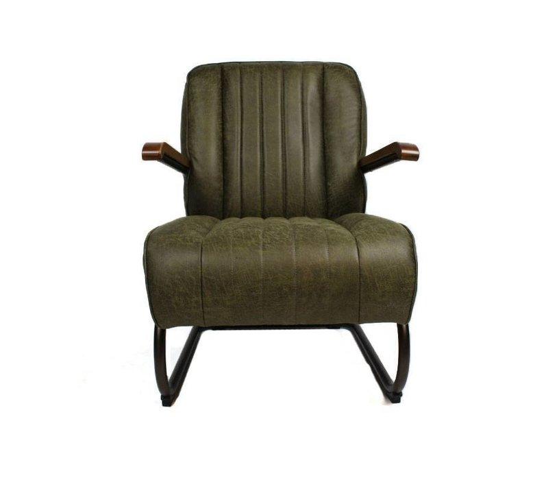 Industriële fauteuil Wald groen