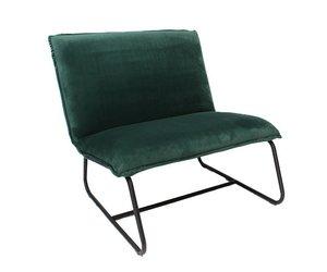 Microvezel Stof Stoel : Industriële fauteuil harvey velvet groen microvezel