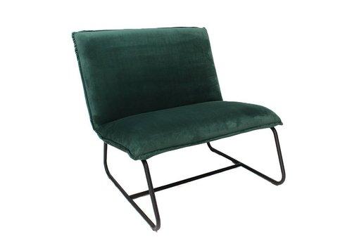 Industriële fauteuil Harvey velvet groen microvezel