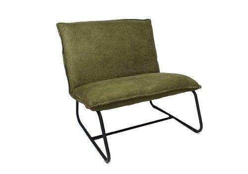 Industriële fauteuil Harvey olijf groen microvezel