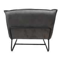 Industriële fauteuil Harvey grijs microvezel