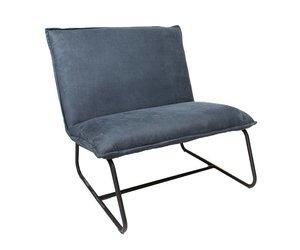 Microvezel Stof Stoel : Industriële fauteuil harvey blauw microvezel microvezelstof