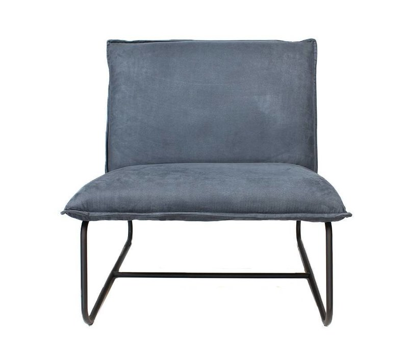 Blauwe Relax Stoelen.Industriele Fauteuil Harvey Blauw Microvezel
