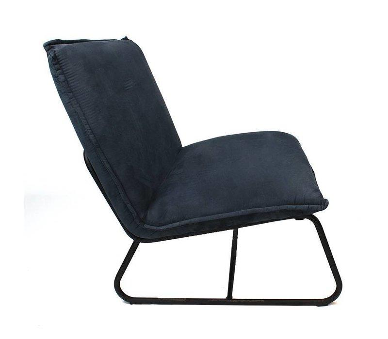 Industriële fauteuil Harvey blauw microvezel