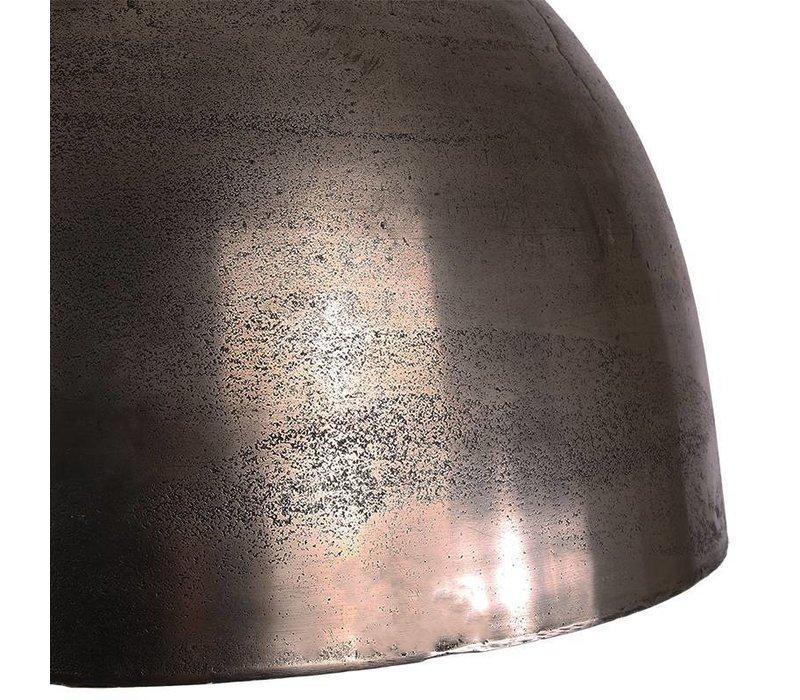 Industriële hanglamp Nikkie Raw Nickel Ø44 cm
