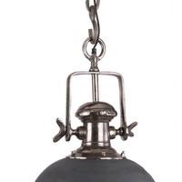 Industriële hanglamp Finn Raw Nickel Ø45 cm