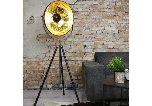 Vloerlamp Saar zwart goud