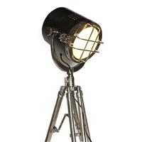 Industriële vloerlamp Koen Raw nikkel