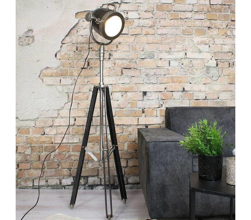 industriële vloerlamp kyra raw nikkel - gratis verzending