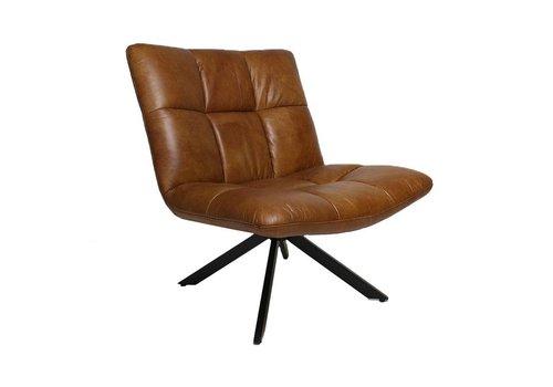 Bronx71 Industriële fauteuil Madi cognac leer
