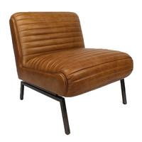Industriële fauteuil Kira cognac