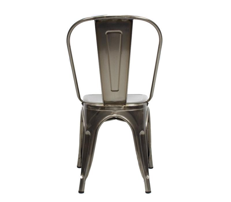 Industriële retro stoel Blade metaal