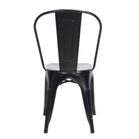 Industriële retro stoel Blade zwart