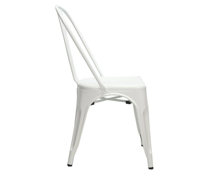 Industriële retro stoel Blade wit