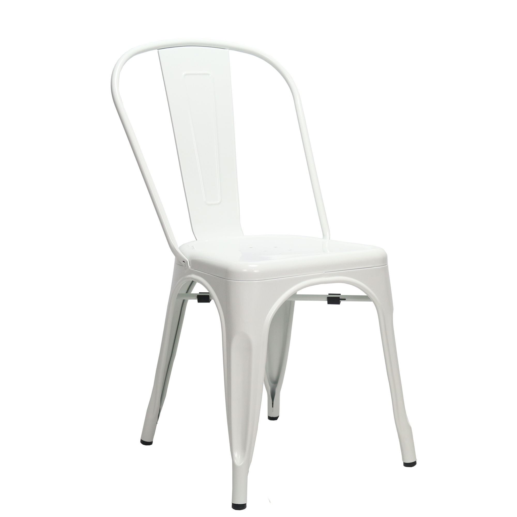 Industriële retro stoel Blade wit | MEGA DEAL