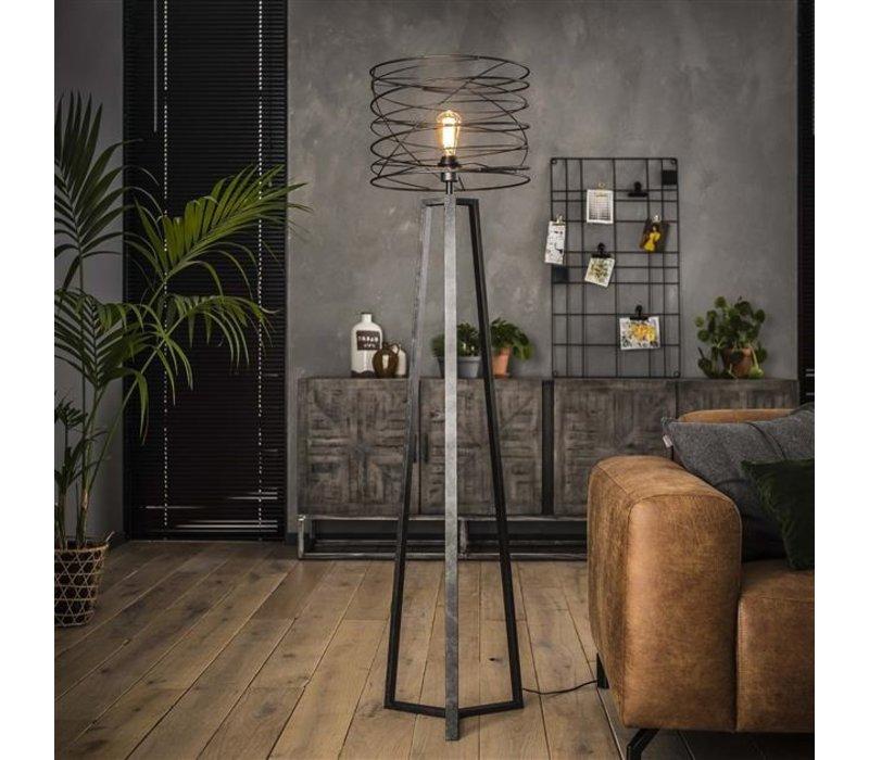 Industriële vloerlamp Twist Ø40