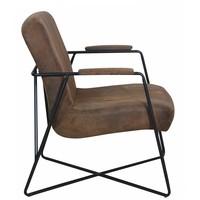 Industriële fauteuil Henderson vintage donker bruin