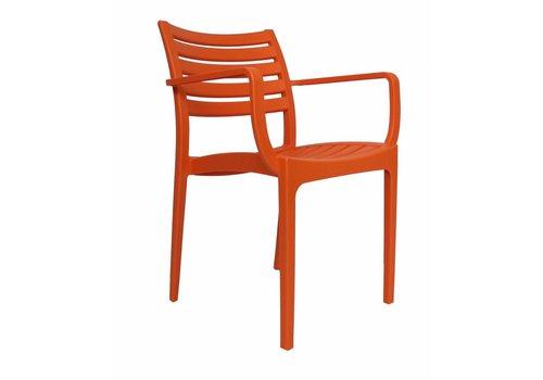 Tuinstoel modern Breaz oranje