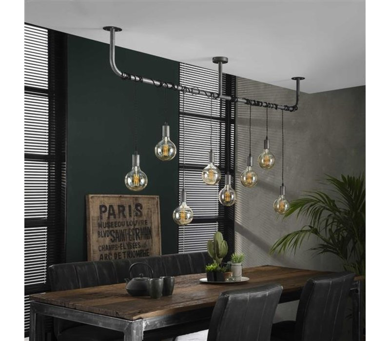 Industriële hanglamp  Willow  8-lichts