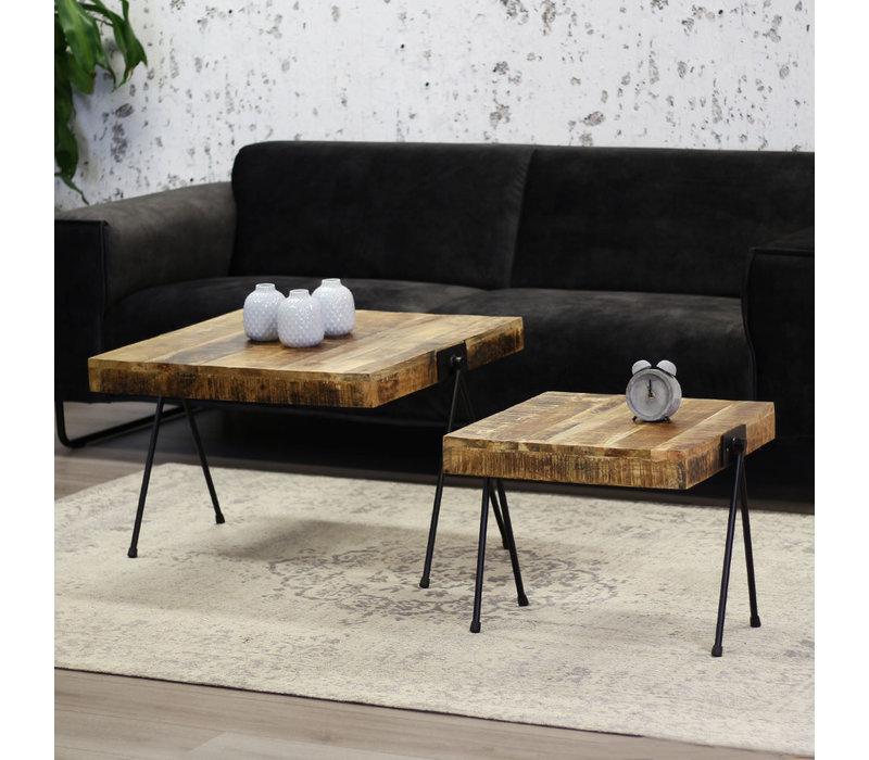 Industriële salontafelset van 2 Philippe