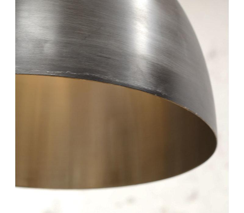 Industriële hanglamp Cody zwart zilver